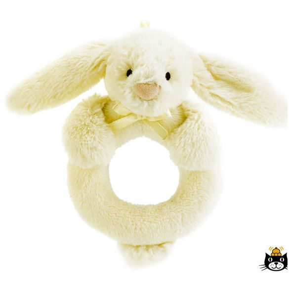 Jellycat Bashful Bunny Ring Rattle Cream 12 cm