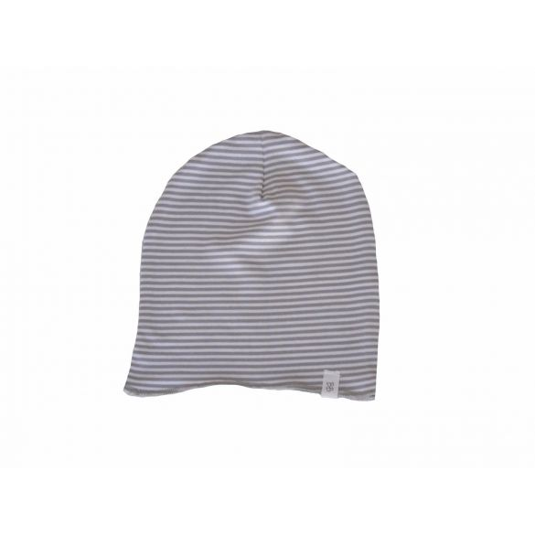 Bamboom Mutsje Beanie Streep White/Grey