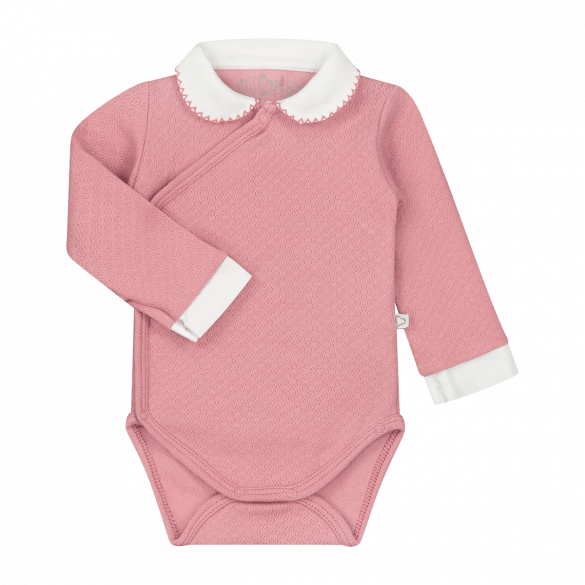 Mats en Merthe Romper with Collar and Long Sleeves Old Pink