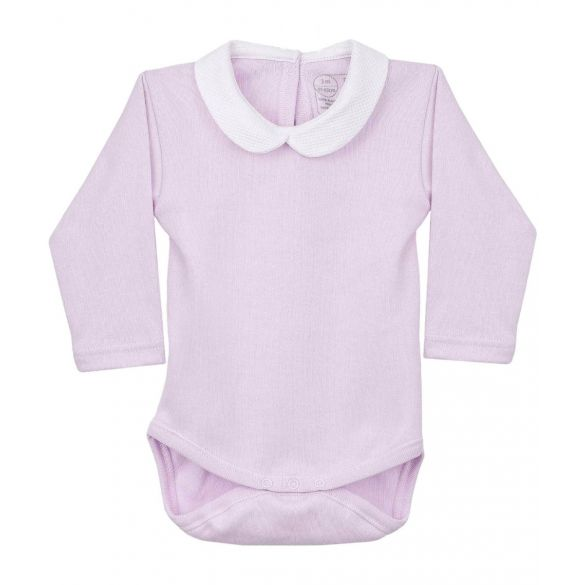 Rapife Bodysuit Pink with Round Collar
