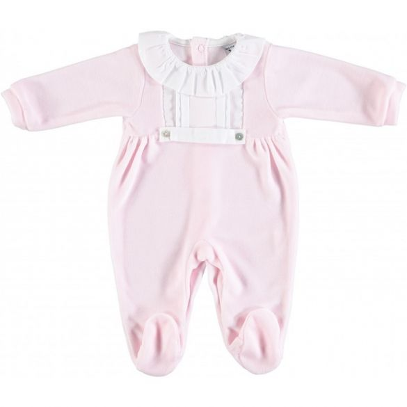 Babidu One Piece Pink with White Collar and Footies