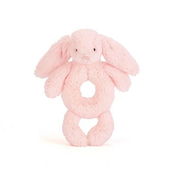 Jellycat Bashful Pink Bunny Rattle (18 cm) Small