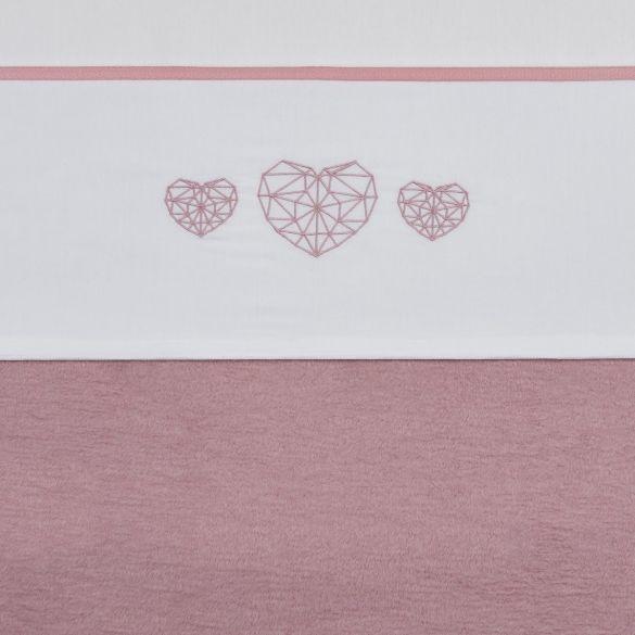 Meyco Cotton Crib Sheet Geomatric Heart 100x150