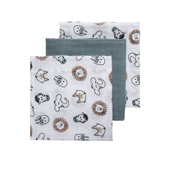 Meyco 3-pack Animal-Uni Stone Green-Animal