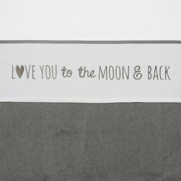 Meyco Cotton Crib Sheet Love You To The Moon&Back