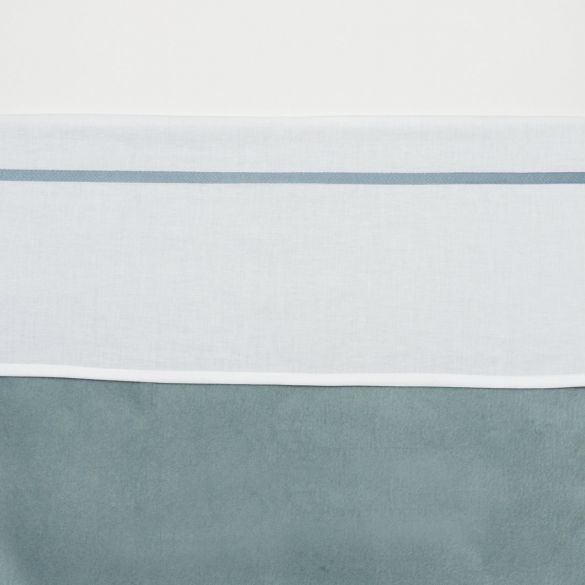 Meyco Cotton Cot Sheet White with Piping 75 x 100 cm