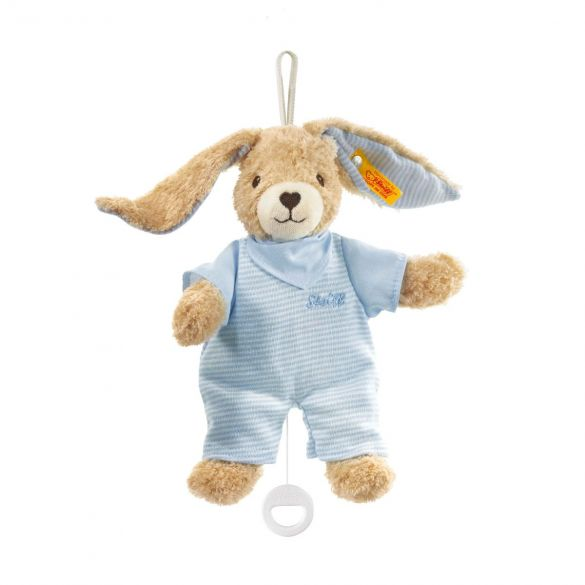 Steiff Hoppel Rabbit Blue with Music Box 20 cm
