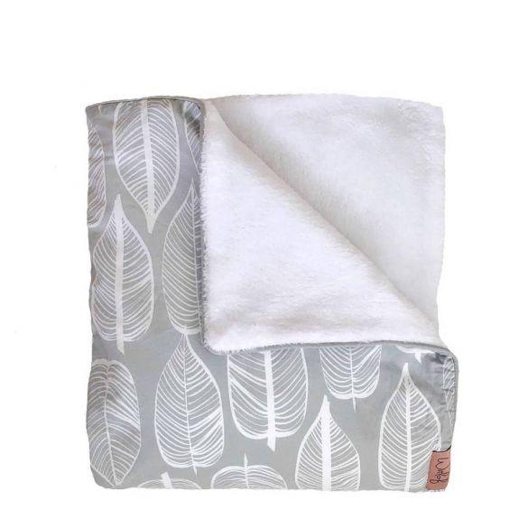 Witlof For Kids Ledikantdeken Beleaf Warm Grey/White
