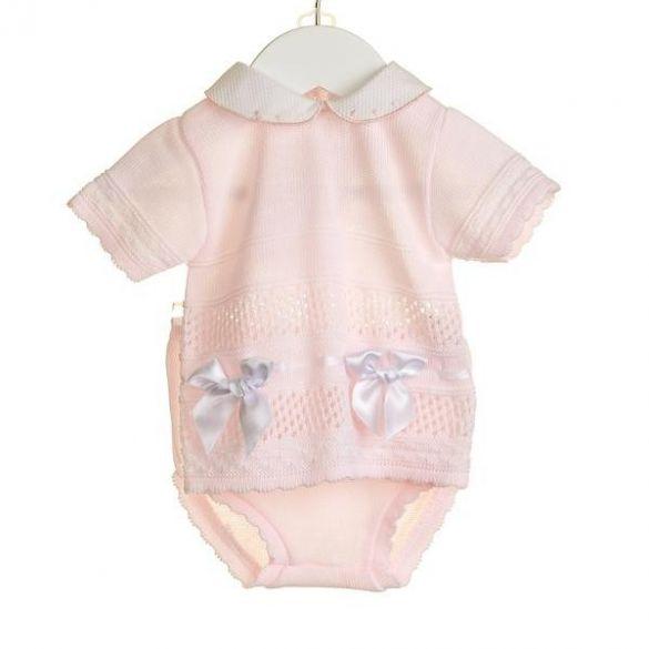 Zip Zap Knitted Set Pink