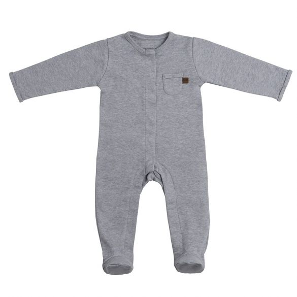 Baby's Only Coverall With Footies Melange Grey