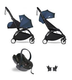 Babyzen Yoyo+ Buggy Compleet: 0+ en 6+ Frame Zwart met autostoel Babyzen iZi Go Modular by Besafe