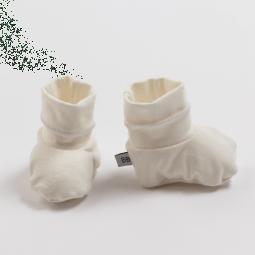 Bamboom Slofjes Streep White/Grey