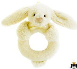 Jellycat Bashful Bunny Ring Rattle Cream 12 cm