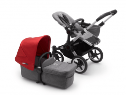 Bugaboo Donkey2 Mono compleet Grey/Red