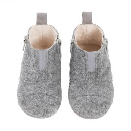 Dusq First Step Shoes Wool Misty Grey