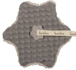 Koeka Speendoekje Wafel/Teddy Oslo-Taupe/Soft Grey