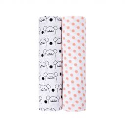 Lassig Muslin Swaddle and Burp Blanket XL Little Chums Mouse