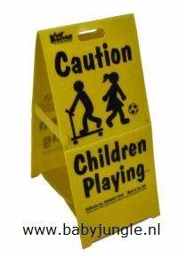 Waarschuwingsbord Spelende Kinderen Groot