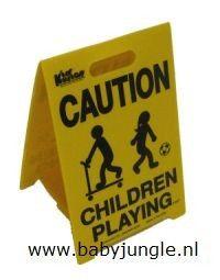 Waarschuwingsbord Spelende Kinderen Klein