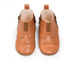 Dusq First Step Shoes Leather Sunset Cognac