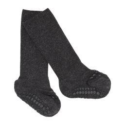 GoBabyGo Anti-Slip Sokjes Bamboe Dark Grey Melange