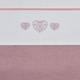 Meyco Katoenen Ledikantlaken Geometric Heart 100x150