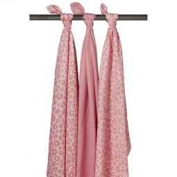 Meyco 3-pack Swaddles Panter-Uni Roze-Panter