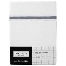 Meyco Katoenen Wieglaken Wit met Lurex Bies 75x100