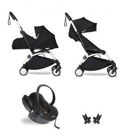 Babyzen Yoyo+ Buggy Complete 0+ en 6+ Frame Black with Car Seat Babyzen iZi Go Modular by Besafe