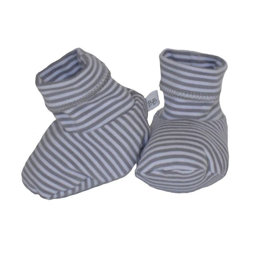 Bamboom Slofjes Stripe White/Grey