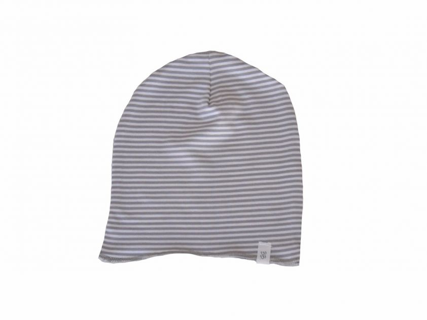 Bamboom Mutsje Beanie Stripe White/Grey