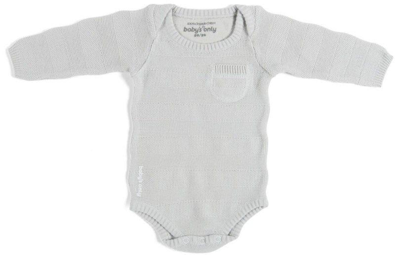 Baby's Only Romper Stripe Lange Mouw Silvergrey
