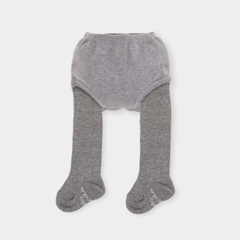 Tutto Piccolo Knitted Grey Short with Tights