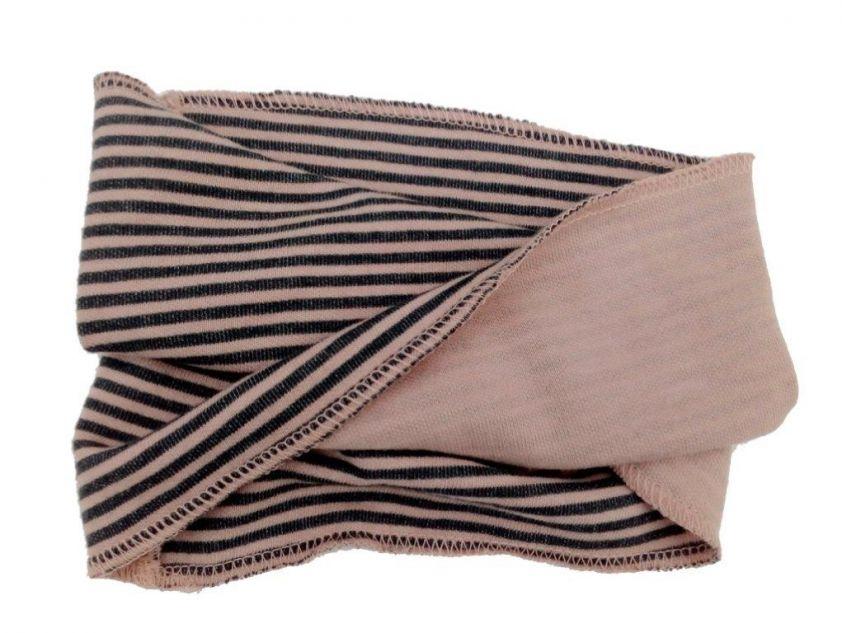Bamboom Scarf Stripe Pink/Grey