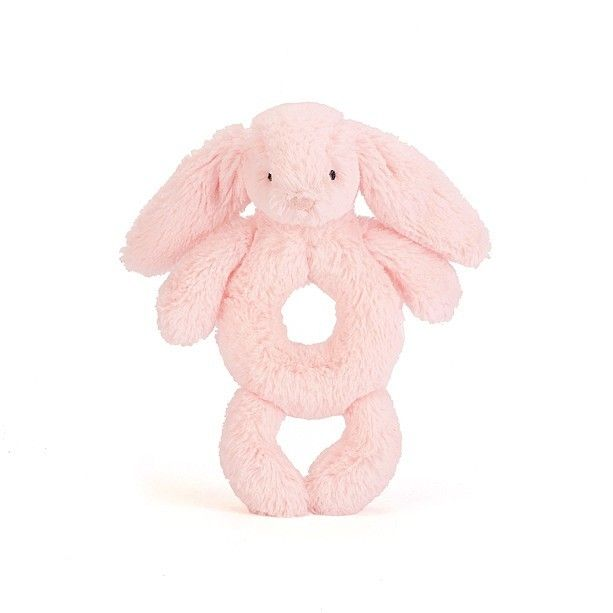 Bashful Pink Bunny Rattle (18 cm) Small