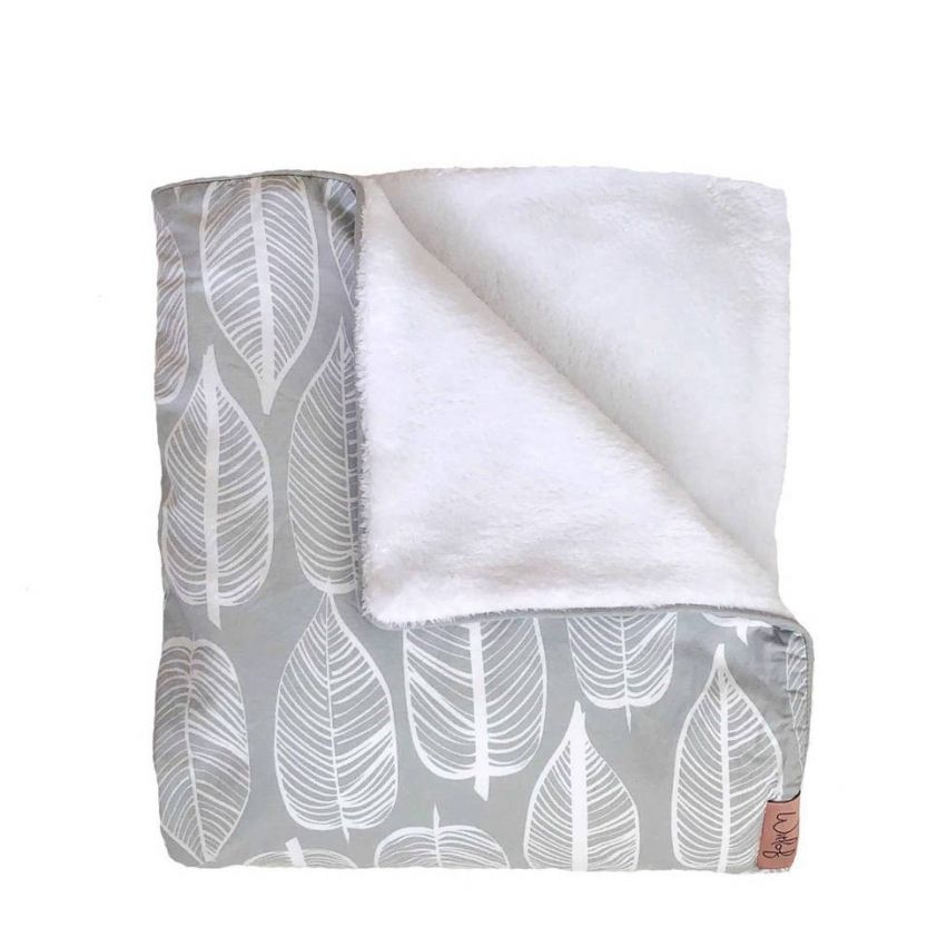 Witlof For Kids Ledikantdeken Beleaf Warm Grey/White
